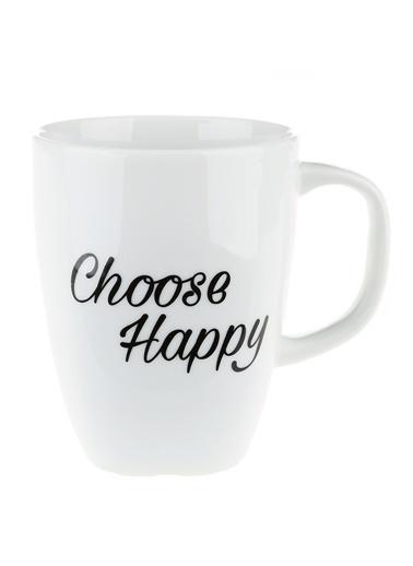 Morhipo Home Choose Happy - Çift Taraflı Kupa Beyaz